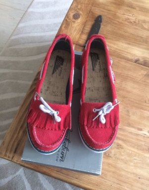 Chaussures bateau rouge