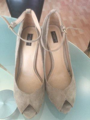 Zara Basic Mocasines marrón grisáceo