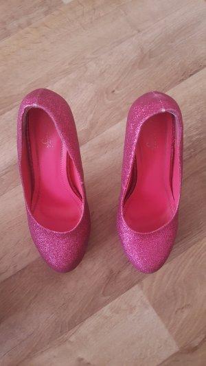 Tacones altos rosa-rosa