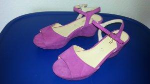 Gabor Platform High-Heeled Sandal violet suede