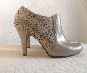 Damenschuhe High Heels Gold Gr.39 Silvester Stiefeletten