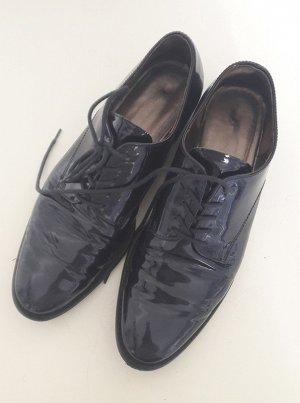 Gabor Derby dark blue imitation leather