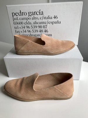 Pedro garcia Mocassins vieux rose cuir