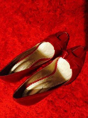 100 Zapatos magenta Cuero