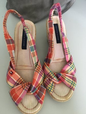 Tommy Hilfiger Wedge Sandals multicolored cotton