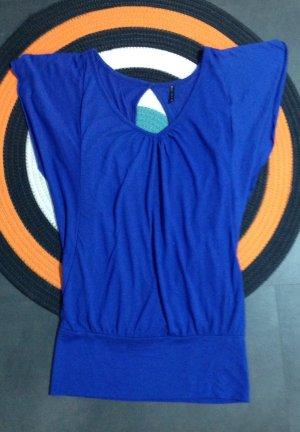 Amisu Camisa con cuello caído azul