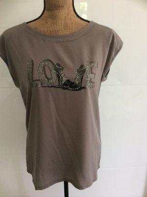 Damenshirt , Größe 38 , Nude , Neu , Glitzerprint