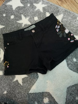 Clockhouse Pantalón corto de tela vaquera negro