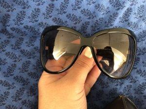 Gucci Lunettes de soleil ovales noir-brun noir