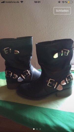 Graceland High Heel Boots black-grey