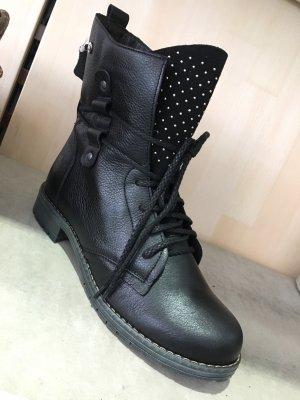 Halfhoge laarzen grijs-zwart