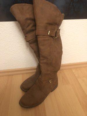 Jumex Overknees brown