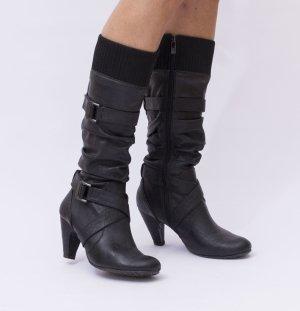 Damenstiefel Stiefel Damen Gr. 38 schwarz, getragen, guter Zustand