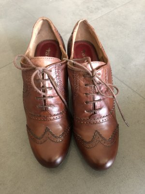 Tamaris Lace-up Booties brown leather