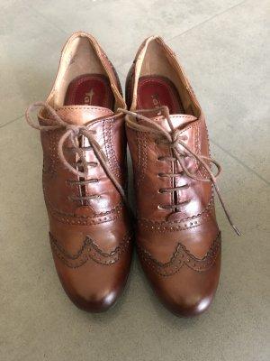 Tamaris Bottines à lacets brun cuir