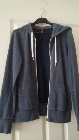 H&M Divided Chaqueta de tela de sudadera gris pizarra