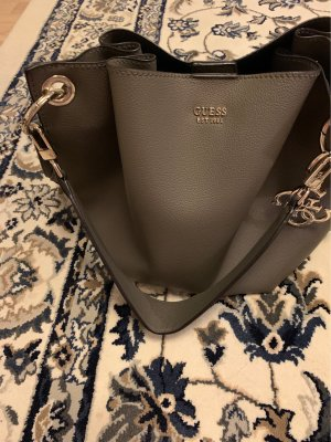Guess Pouch Bag dark grey imitation leather