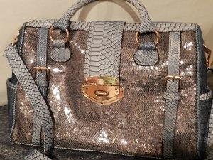 Damentasche Handtasche-Pailletten besetzte Jeanstasche -starkes Outfit !! - NEU