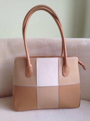 Crossbody bag sand brown-white