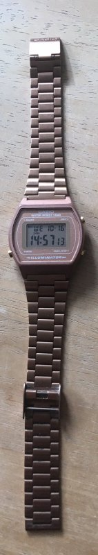 Casio Digital Watch rose-gold-coloured
