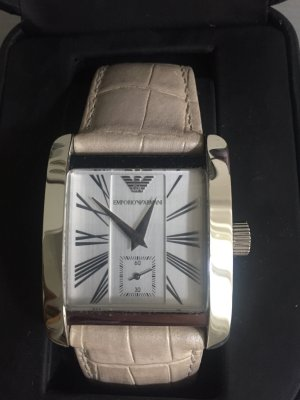 Armani Watch With Leather Strap multicolored