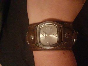 Damenuhr Armbanduhr taupe braun von Belmore