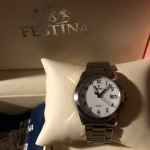 Festina Watch silver-colored-black