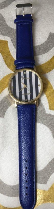 Damenuhr blau vintage Style Uhr