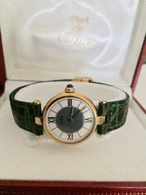 Cartier Montre avec bracelet en cuir multicolore