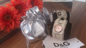 Damenuhr D&G BAY STAR DW0100 mit Lederband - wie neu