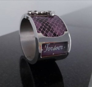 Dolce & Gabbana Reloj analógico lila-violeta grisáceo acero inoxidable