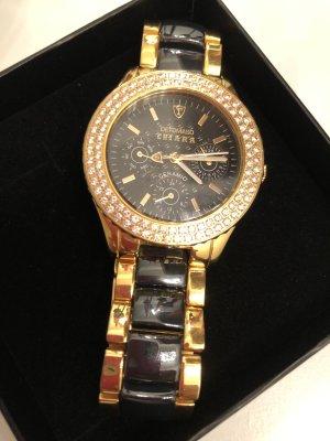 Chiara Analog Watch black-gold-colored