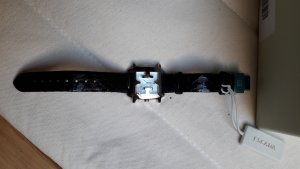 Escada Watch With Leather Strap black-silver-colored