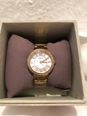 Fossil Watch With Metal Strap pink-gold-colored