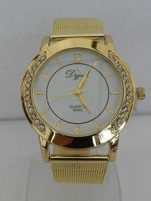 Analoog horloge goud-wit