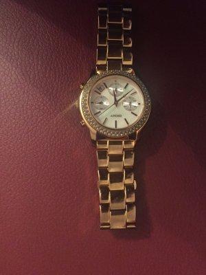 Damenuhr Gold DKNY mit Steinen
