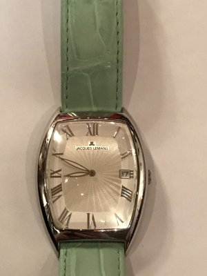 Jacques Lemans Watch With Leather Strap sage green