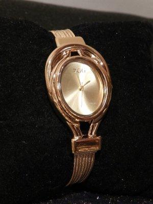 Damenuhr Luxury BGG Gelbgold Armbanduhr -Wasserdicht,Quarz - NEU