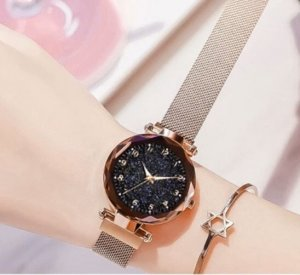 Watch With Metal Strap rose-gold-coloured