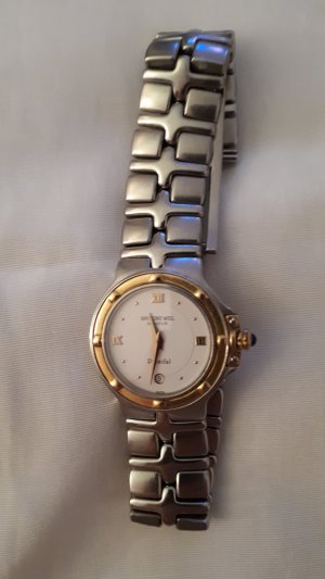 Watch With Metal Strap silver-colored-gold-colored