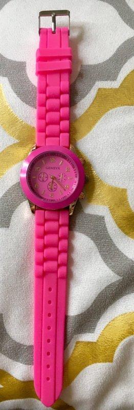 Damenuhr rosa pink neu Uhr