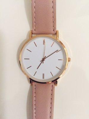 Kiomi Watch With Leather Strap dusky pink leather