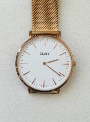 Cluse Horloge met metalen riempje roségoud