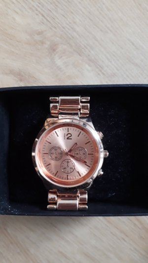 Claires Watch With Metal Strap rose-gold-coloured