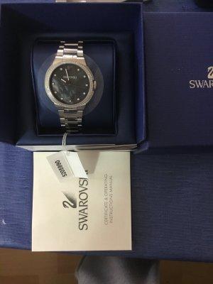 Swarovski Analog Watch silver-colored-dark grey stainless steel