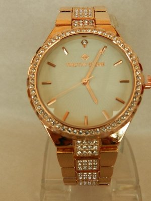 Analog Watch rose-gold-coloured-white stainless steel