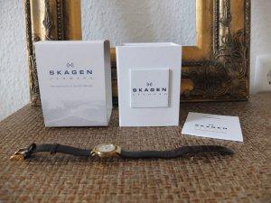 Damenuhr Uhr von Skagen Denmark braun gold