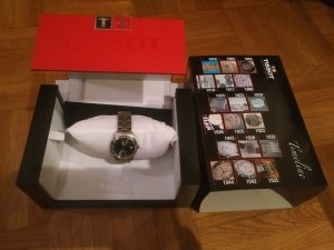 Tissot Watch With Metal Strap silver-colored-grey
