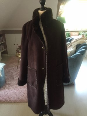 Dana Buchman Fake Fur Coat dark brown