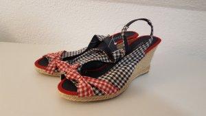 Wedge Sandals dark red-dark blue